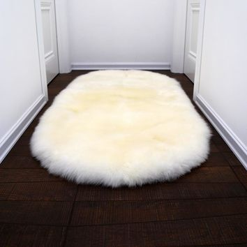 Autumn Fall welcome door mat doormat AOZUN round premium australian sheepskin rug tailored size fur carpet for cloak room white step  sheep fur blanket AT_76_7