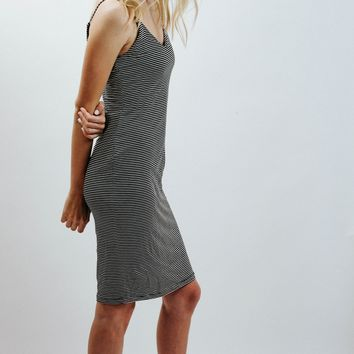 WP Body Con Stripe Dress
