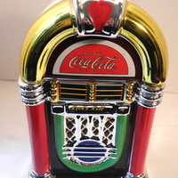 Coca Cola Jukebox Cookie Jar Canister by Pascalene on Etsy