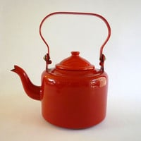 Red Enamel Kettle Teapot