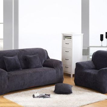 Charming Pixel Stretch Sofa Slipcover Fashion Couch Cover Grey Sofa Cover