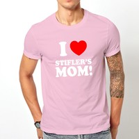 American Pie I Love Stifler'S Mom White Pink Tshirt