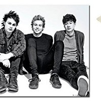 Bundle - 2 Items - 5Sos 5 Seconds Of Summer Group Sitting Poster - 91.5 x 61cms (36 x 24 Inches) and Small Block Of White Tack