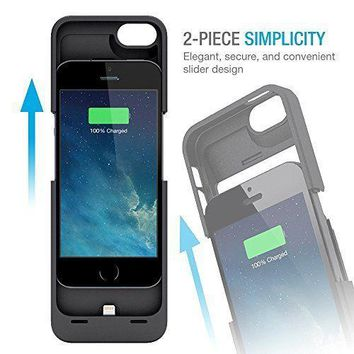 iPhone 5 5C 5S 6 6S Ultra Slim External Portable Power Bank Battery Charger Case