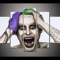 Framed Print Halloween joker picture poster modern home decor kids wall art print Halloween Painting on canvas Wall art  /PT0034