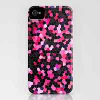 pink and black mosaic iPhone Case by Sylvia Cook Photography | Society6