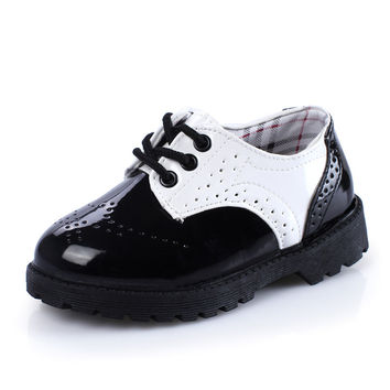 Children Shoes Boys Breathable Casual Sneakers 2016 Spring New Korean Kids Shoes Boys PU Leather Girls Princess Flats Shoe
