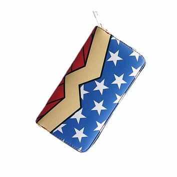 DC wonder woman Wallet Suicide squad Purse Super Hero Fashion Cartoon Wallets Personalized Anime Purses For Teens Girl Student