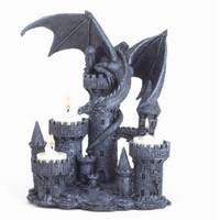 New Dragon Tealights Candleholder Gothic Medieval Art Style Home Decor 37960