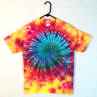 Tie Dye T-shirt - Featival Wear and Fashion - Psychedelic Spiral Galaxy - Cotton Mens and Womens Shirt