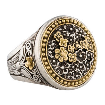 Konstantino Two-Tone Flower Ring