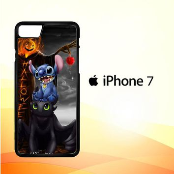 Stitch Toothless dragon Z2587 iPhone 7 Case