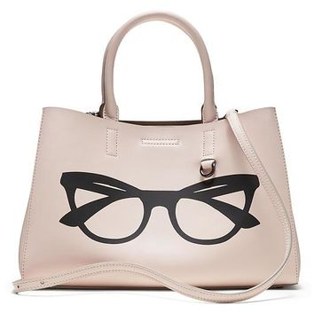 Banana Republic Mini Larkin Glasses Graphic Tote Size One Size - Rosy blush