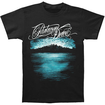 Parkway Drive Men's  Deep Blue Skyline (Slimfit) Slim Fit T-shirt Black