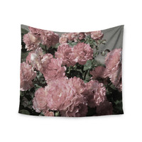 """Susan Sanders """"Blush Pink Flowers"""" Floral Photography Wall Tapestry"""