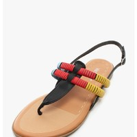 Black Costa Rica T-Strap Sandals | $10.0 | Cheap Trendy Sandals Chic Discount Fashion for Women | M