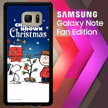 A Charlie Brown Peanuts Christmas Cartoon E0833 Samsung Galaxy Note FE Fan Edition Case