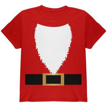 DCCKIS3 Halloween Santa Claus Costume Youth T Shirt