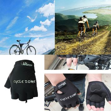 2018 New High Quality For travelers /fitness Protect Footbal Sports Safety Bike Cycling Gel Half Finger Gloves Short Finger