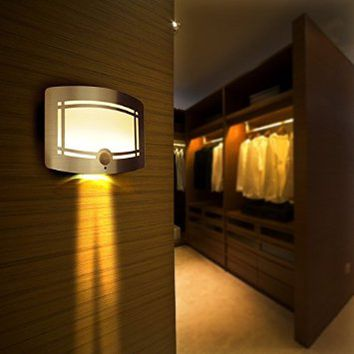 Signstek 10 LED Wireless Light-operated Motion Sensor Activated Battery Operated Sconce Wall Light (1)