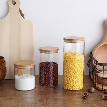 Glass Kitchen Storage Canisters
