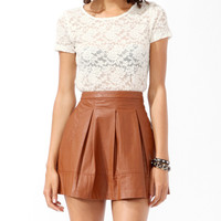 Scalloped Metallic-Blend Top