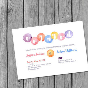 Printable Engagement Party Invitation/engagement invitation/watercolor engagement invitation/elegant engagement invitation/watercolor invite