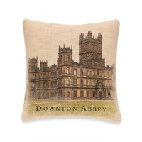 Downton Abbey® Castle Square Throw Pillow in Natural