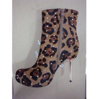 Christian Louboutin Shoes 2010 Fall Winter Leopard Print Booties