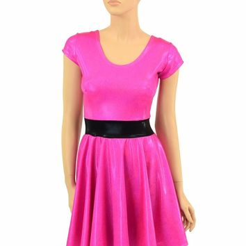 "Pink Sparkly ""Blossom"" Skater Dress"