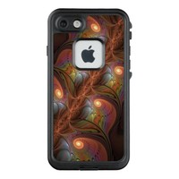 Colorful Fluorescent Abstract Modern Brown Fractal LifeProof FRĒ iPhone 7 Case