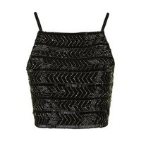 Embellished Bralet - Black