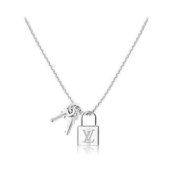Products by Louis Vuitton: Lockit pendant, white gold
