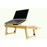 New Adjustable Computer Laptop Desk Bed Table Desk W/ Drawer