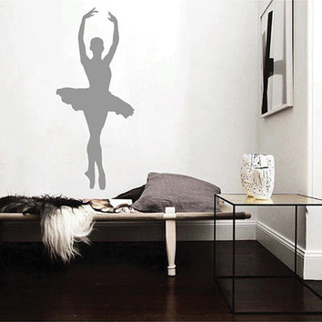 kik2271 Wall Decal Sticker ballerina dance ballet pas pirouette girl living room bedroom