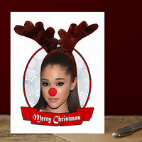 Ariana Grande Christmas Card. Funny Christmas Card. Christmas Card Funny. Handmade Christmas. Christmas Gifts. Cute Boyfriend. Problem Break