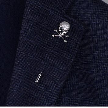 Top Quality Skull Pins Silver/Gold Skeleton Style