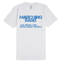 Marching band-Unisex White T-Shirt