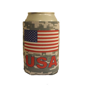 USA Can Cooler - America - High Quality Can Cooler! - Show American Pride!