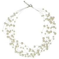 Floating Pearl Wedding Necklace
