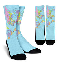 Geography Globe Socks