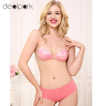 Bra Women Silicone Self-Adhesive Invisible Strapless Backless