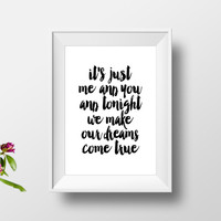 """love quotes""""you and me""""inspirational art,best words,word art,gift for her,gift for him,dorm room decor,love print,wall decor,typography art"""