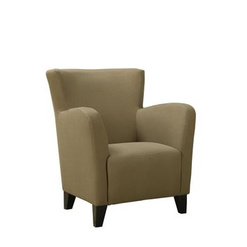 Brown Linen Fabric Club Chair