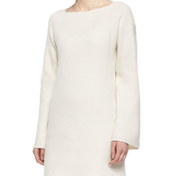 Bell-Sleeve Sweater Tunic, Size: