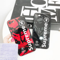 Hot Trendy Aape Supreme Print Iphone X 8 8 Plus Cover Case