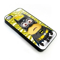 despicable me minions with batman costume for apple iphone 4 4s case