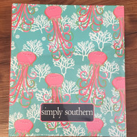 Simply Southern Notebook with Paper- Jellyfish