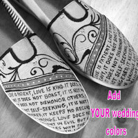 Painted Wedding Bobs/Toms- BOBS INCLUDED