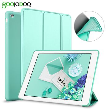 For iPad 2 3 4 Case,PU Leather Smart Cover with Silicone Soft Back Case Tri-fold Stand Auto Sleep/Wake Tablet Coque for iPad 4
